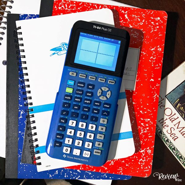 The Review Wire: TI-84 Bionic Blue Calculator