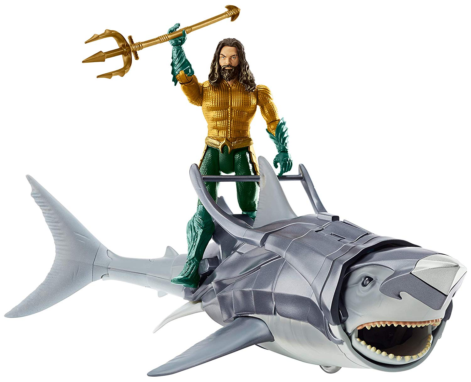 AQUAMAN & Warrior Shark Figure & Creature Pack