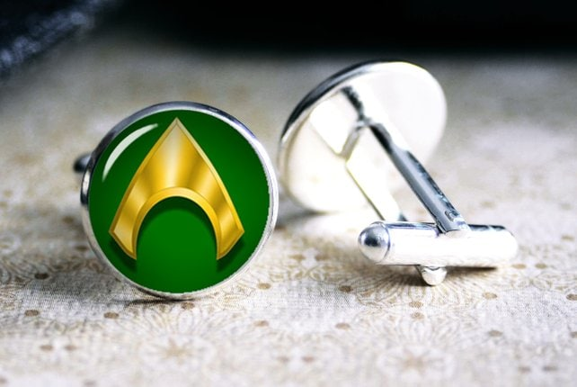Aquaman Superhero Cufflinks