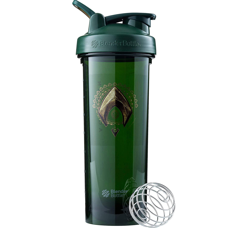 BlenderBottle Justice League Superhero Pro Series 32-Ounce Shaker Bottle, Aquaman