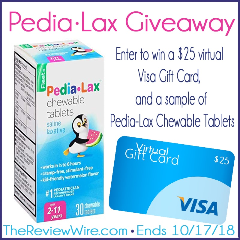 The Review Wire: Pedia-Lax Giveaway - Ends 10/17/18