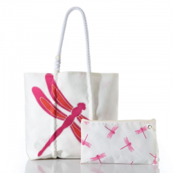 Pink Dragonfly Cure Tote