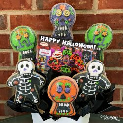 Skulls and Skeletons Cookie Bouquet