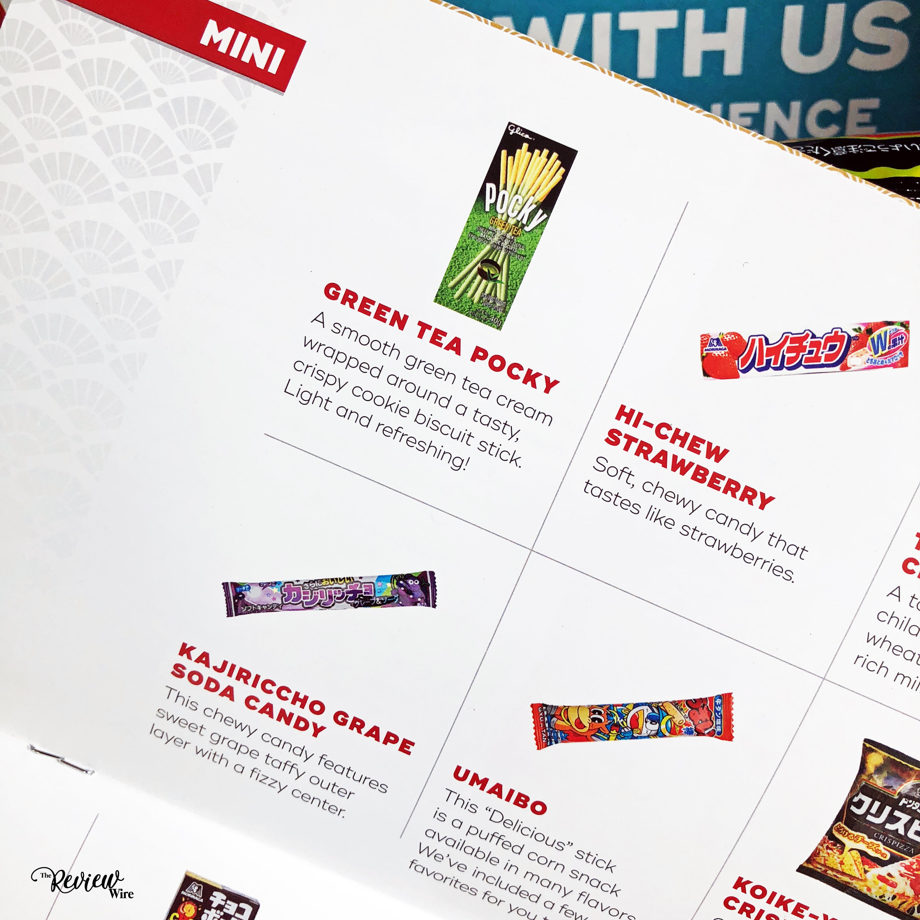 The Review Wire: Snack Crate Japan Box Brochure