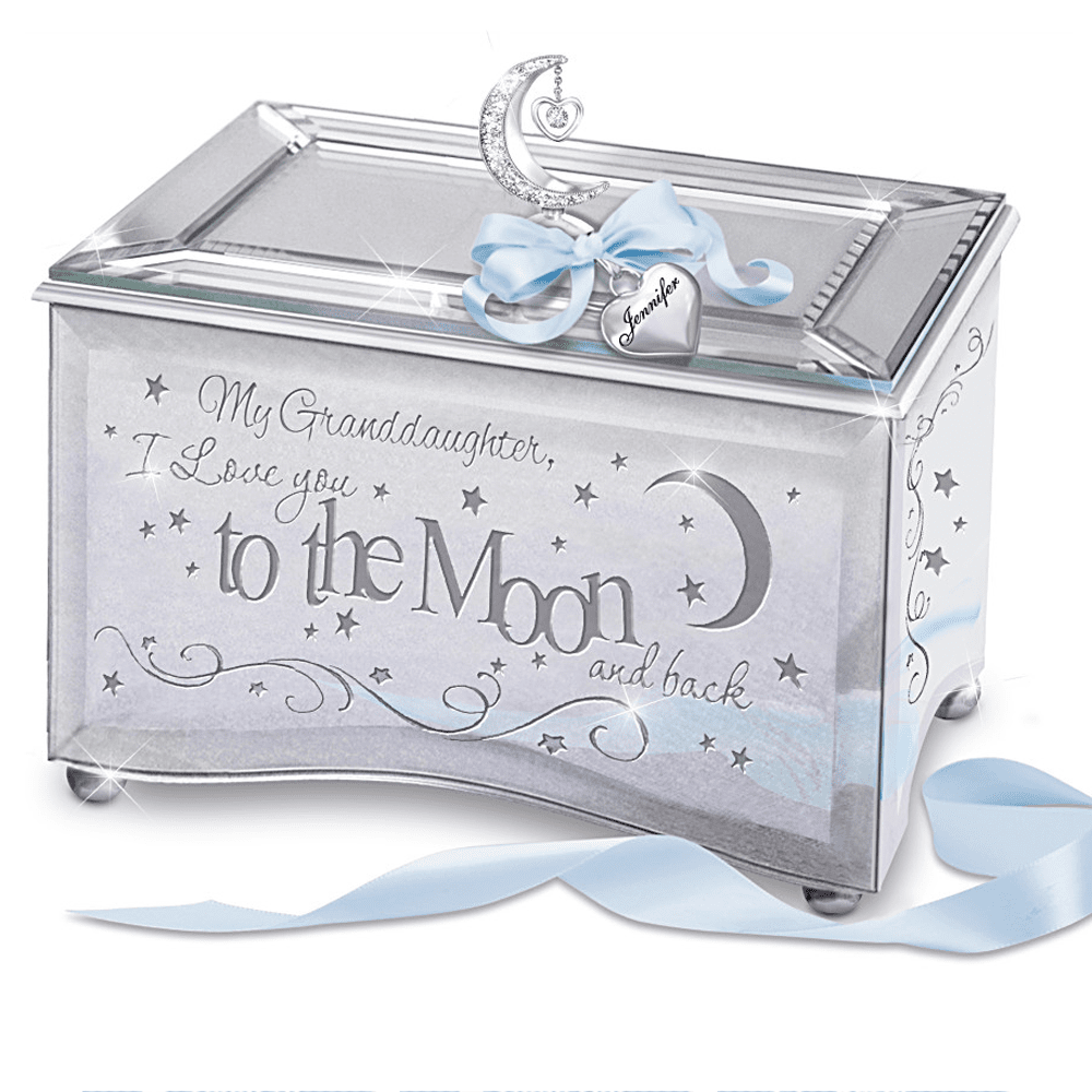 The Review Wire: The Bradford Exchange Personalized Gifts: Granddaughter, I Love You To The Moon Music Box With Name