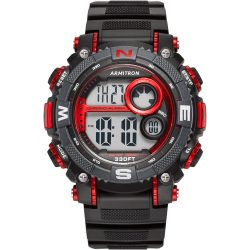 The Review Wire Holiday Guide 2018: Armitron Black Digital Chronograph Sport Watch with Red Accents