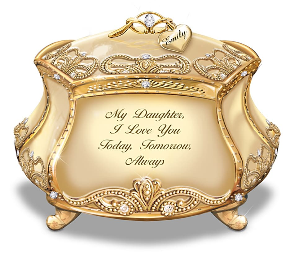 The Review Wire: The Bradford Exchange Personalized Gifts: Daughter, I Love You Music Box With Name-Engraved Charm