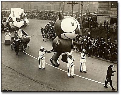 Felix the Cat Ballon in Macy's Parade