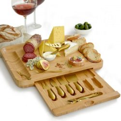The Review Wire Holiday Guide: Gourmet Bamboo Cheese Board + Server Set