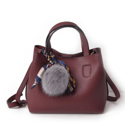 Ivy & Fig Fur Litchi Pattern Bag