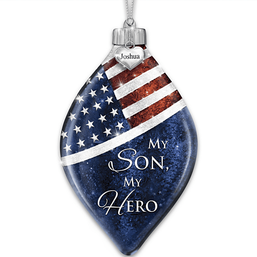 The Review Wire: The Bradford Exchange Personalized Gifts: My Son, My Hero Illuminated Personalized Ornament