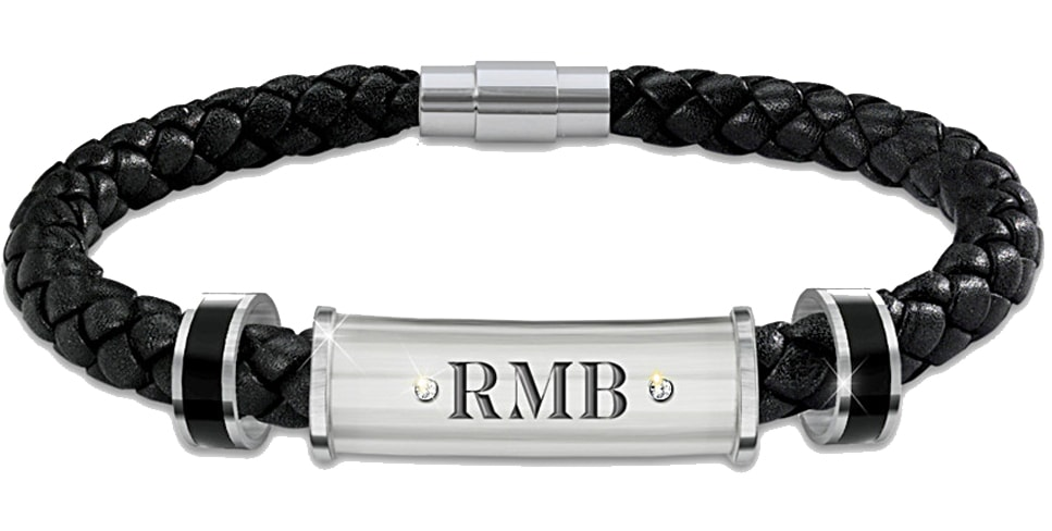 The Review Wire: The Bradford Exchange Personalized Gifts: My Son, My Pride, My Joy Personalized Leather Men's Bracelet