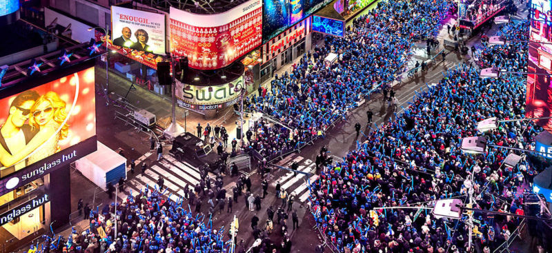 New Year's Eve at the New York Marriott Marquis