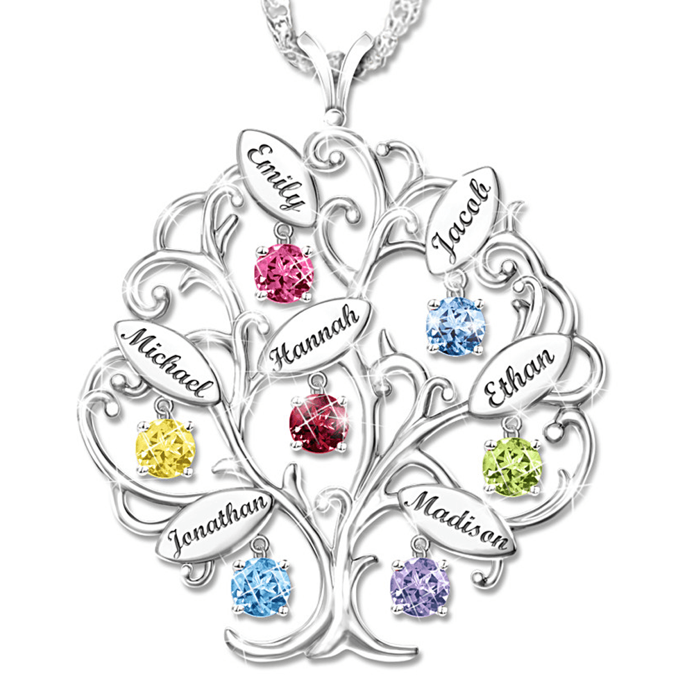 The Review Wire: The Bradford Exchange Personalized Gifts: Personalized Tree-Design Necklace With Names And Birthstones