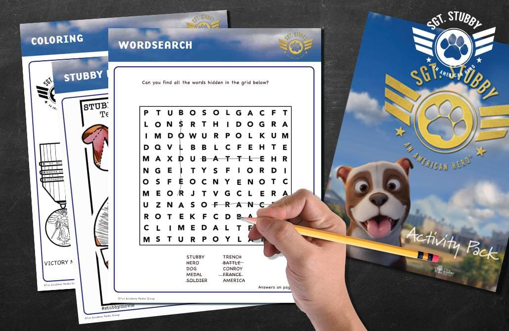 The Review Wire: SGT. STUBBY Activity Pack