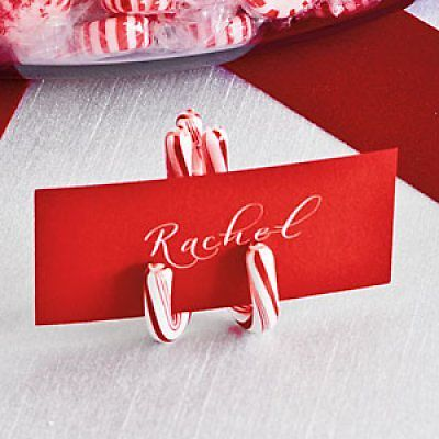Southern Living Candy Cane Place Holder