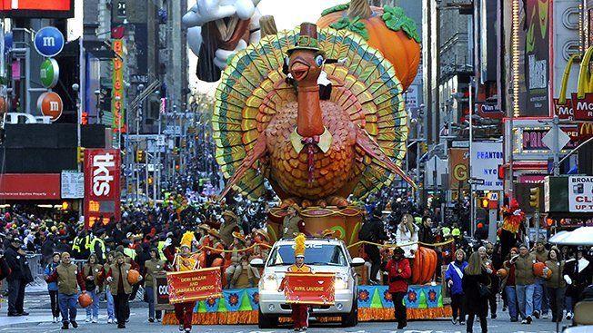 Turkey Float in Macy's Parade