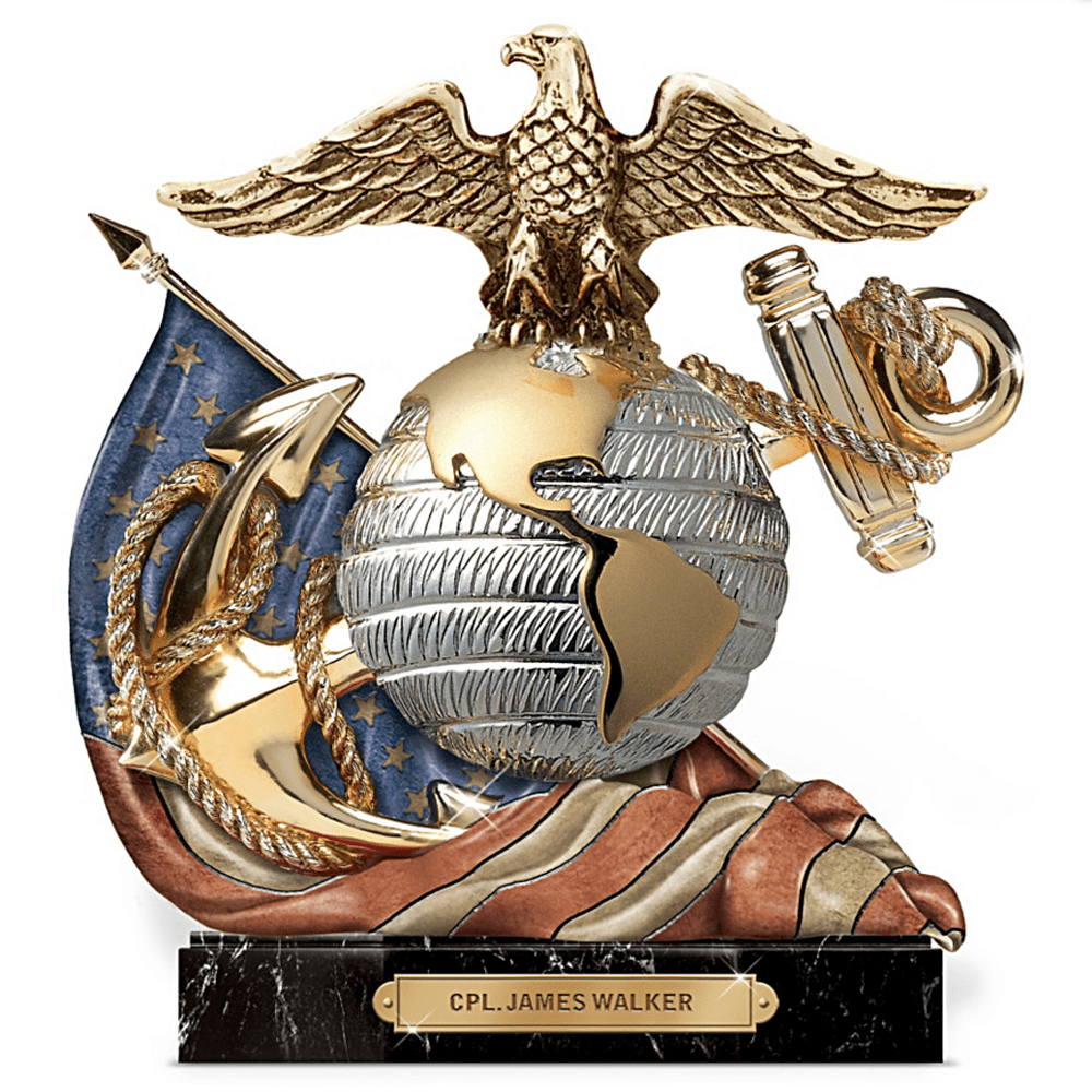 The Review Wire: The Bradford Exchange Personalized Gifts: USMC Eagle, Globe And Anchor Personalized Sculpture