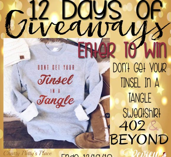The Review Wire: 402 & Beyond Tinsel in a Tangle Sweatshirt Giveaway. Ends 12.19.18