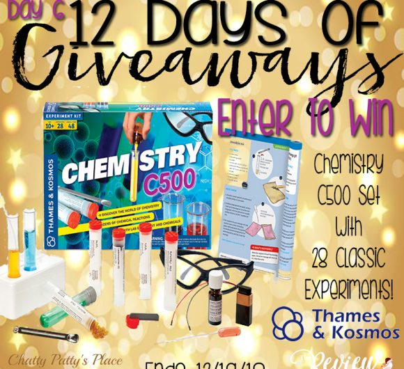 The Review Wire: Chemistry C500 Set Giveaway. Ends 12/19.18