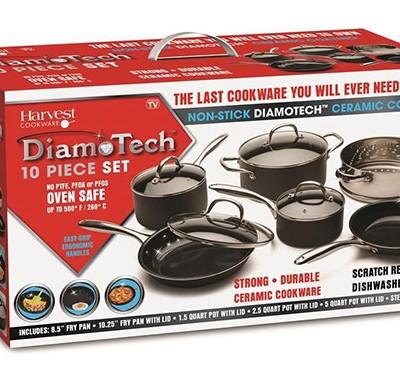DiamoTech 10 Piece Fry Pan Set