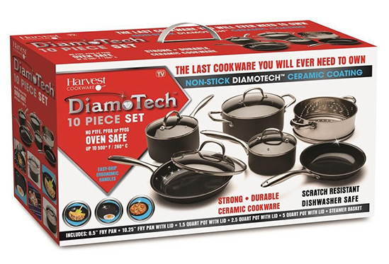 Diamotech 10 Piece Fry Pan Set