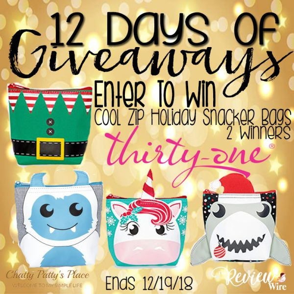 The Review Wire: Thirty-One Giveaway Snackers Giveaway. Ends 12.19.18