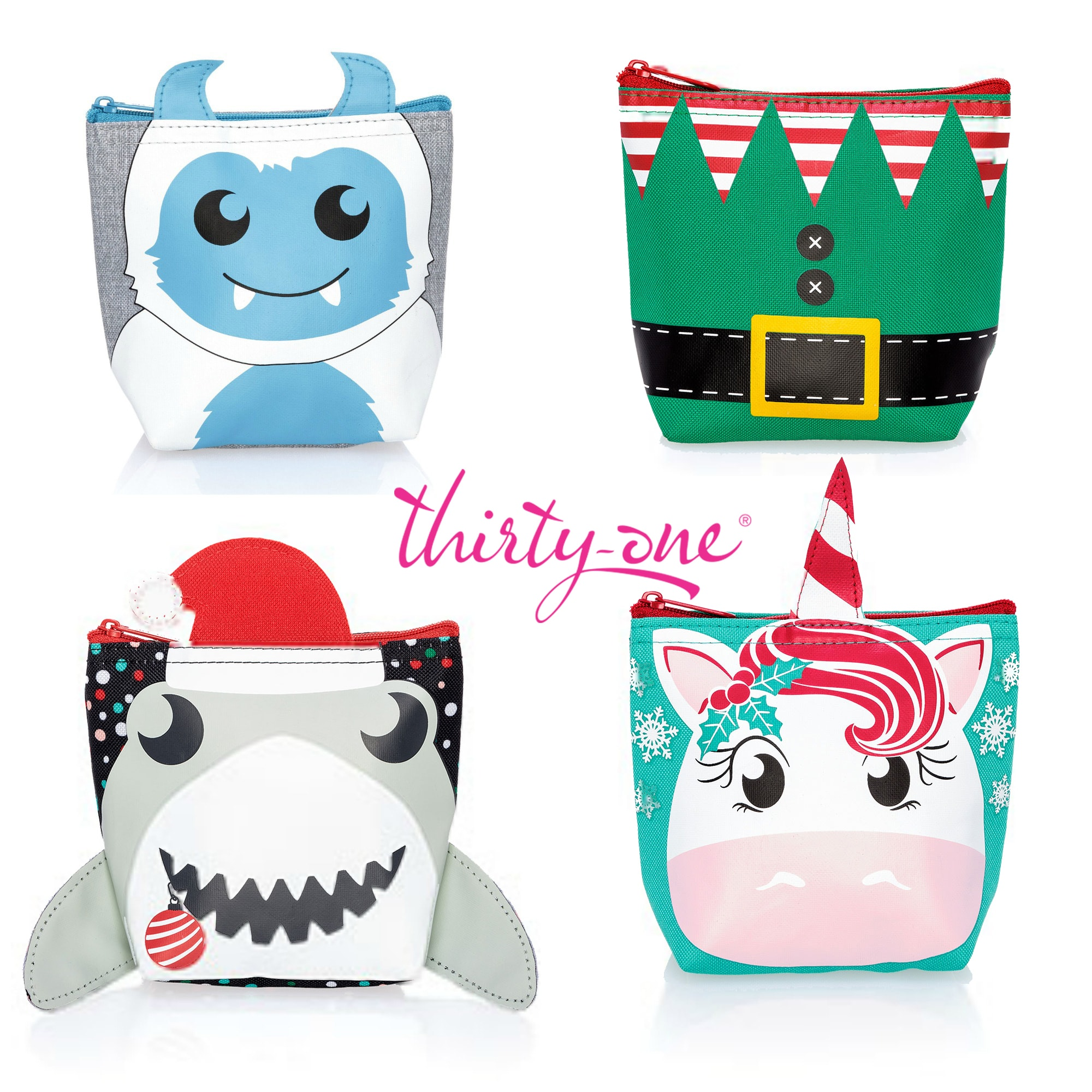 Thirty-One Gifts Cool Zip Holiday Snacker Bags 2018