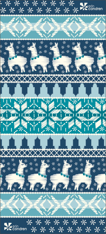 iPhone Wallpaper: Digital Downloads_Wallpaper_Winter_Llamaland
