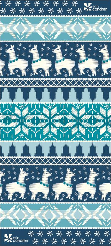 iPhone Wallpaper: Digital Downloads_Wallpaper_Winter_Llamaland