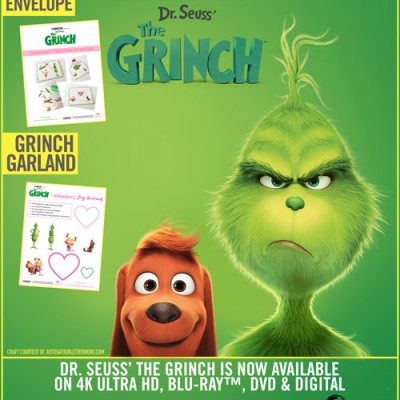Bring THE GRINCH Home + The Grinch Valentine Printables