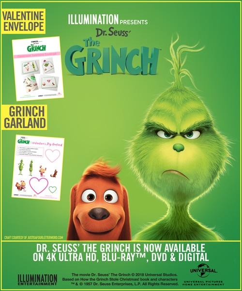 Grinch Valentine Printable