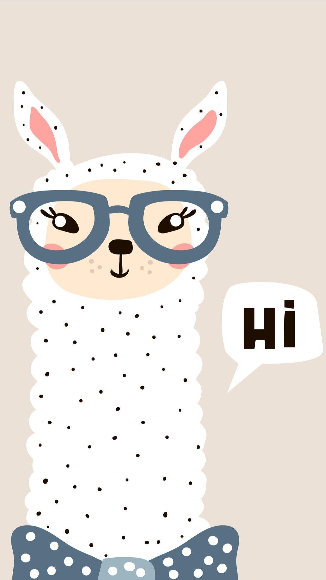 iPhone Wallpaper: Hi Llama