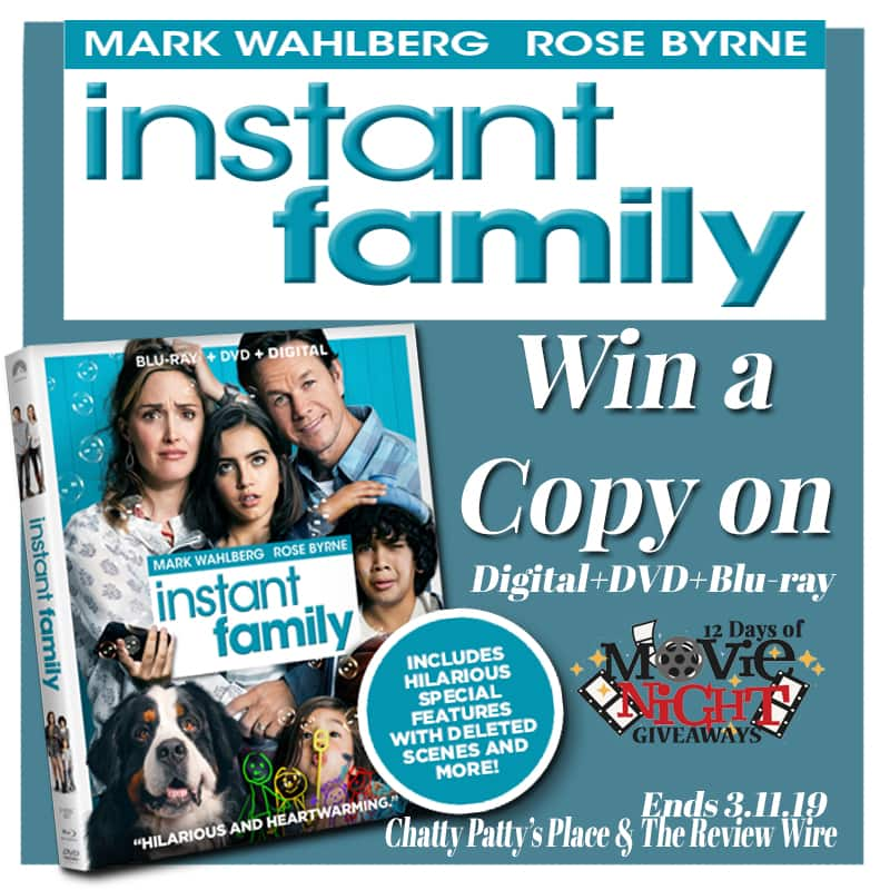 The Review Wire: Instant Family Giveaway. Ends 3.11.19