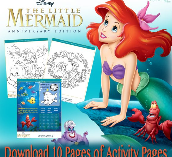 Little Mermaid 30th Anniversary Activity Pages