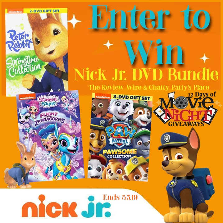 The Review Wire: Nick Jr. DVD Bundle Giveaway. Ends 3.5.19