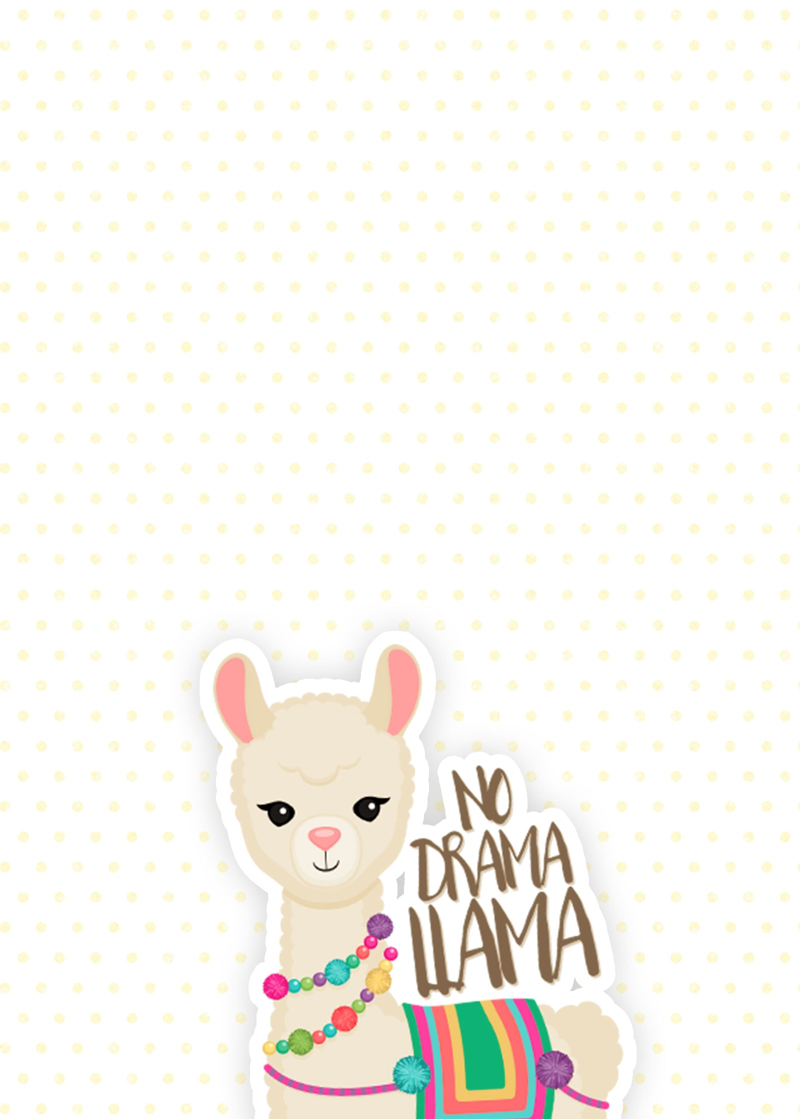 iPhone Background: No Drama Llama