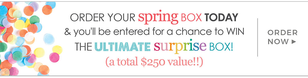 Order a Spring Box and You could Win A Spring Box