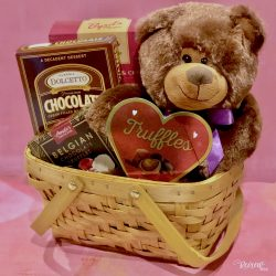 Teddy Bear & Chocolates Valentine's Day Gift Basket