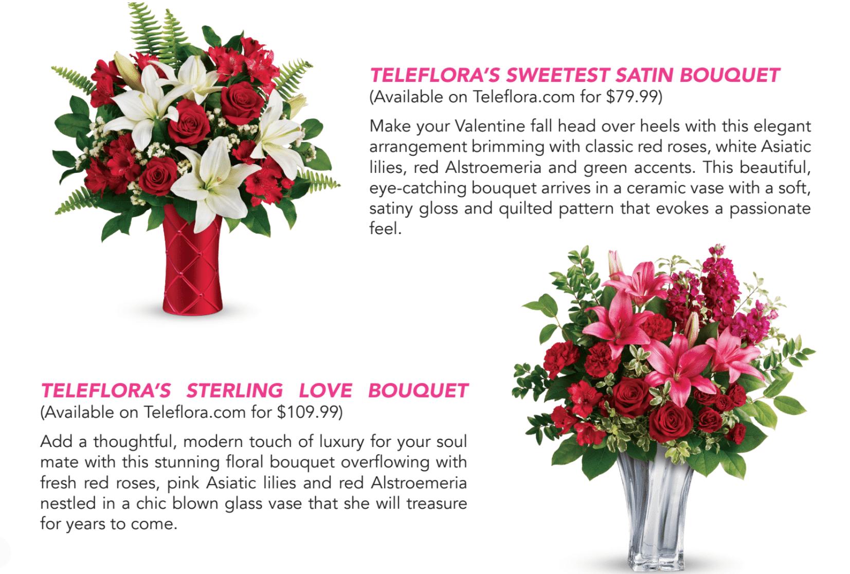Teleflora Valentine's Day 2019 Bouquets
