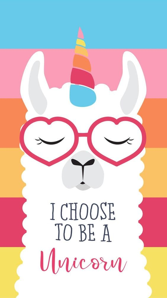 iPhone Wallpaper: unicorn llama