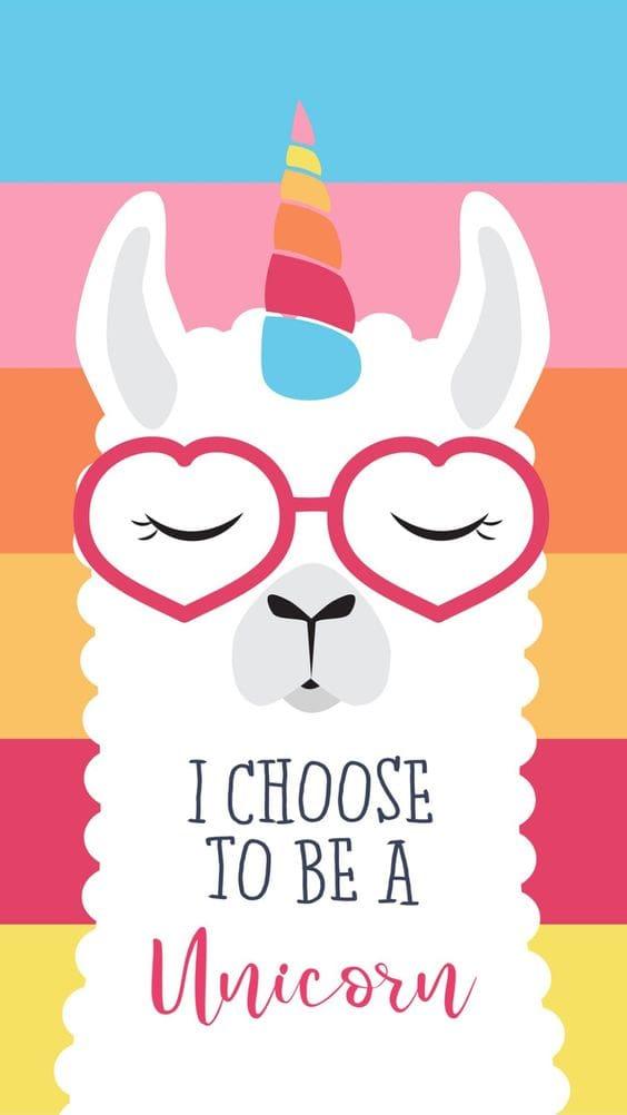 iPhone Wallpaper: unicorn llama