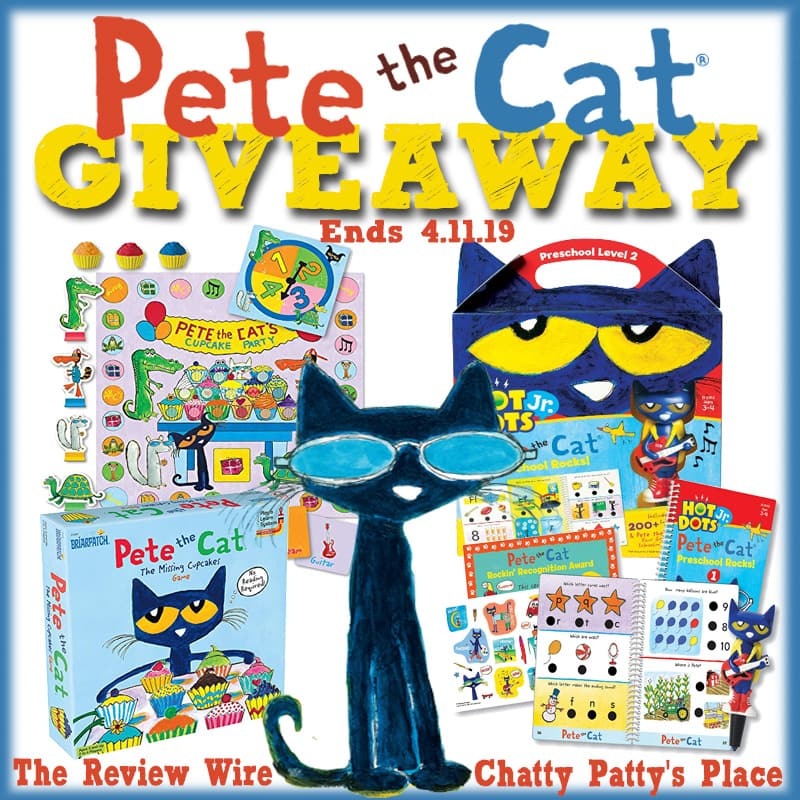 The Review Wire: Pete the Cat Giveaway. Ends 4.11.19