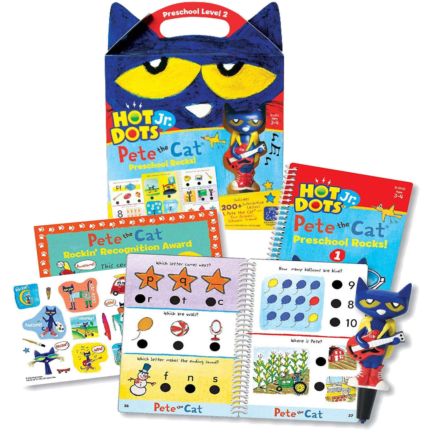 Pete the Cat Hot Dots Jr. Preschool Rocks!