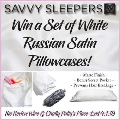 Day 5: #12DaysOfGiveaways: Savvy Sleepers White Russian Satin Pillowcases   OVER