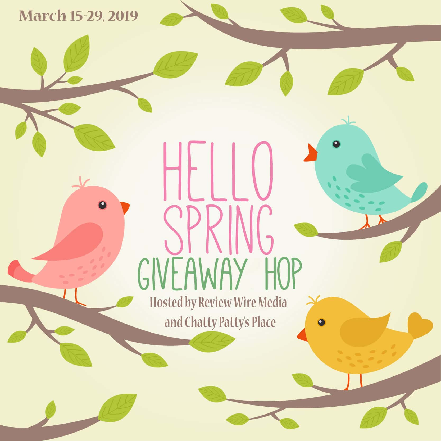 The Review Wire: Hello Spring Giveaway Hop. Ends 3.29.19