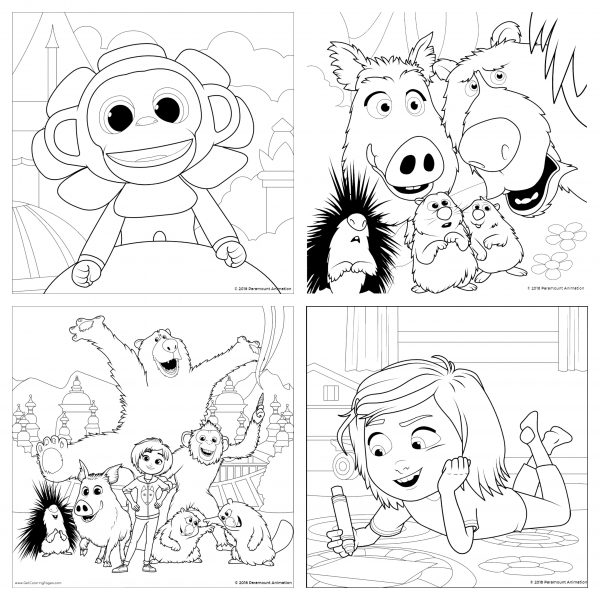 The Review Wire: Wonder Park Coloring Pages