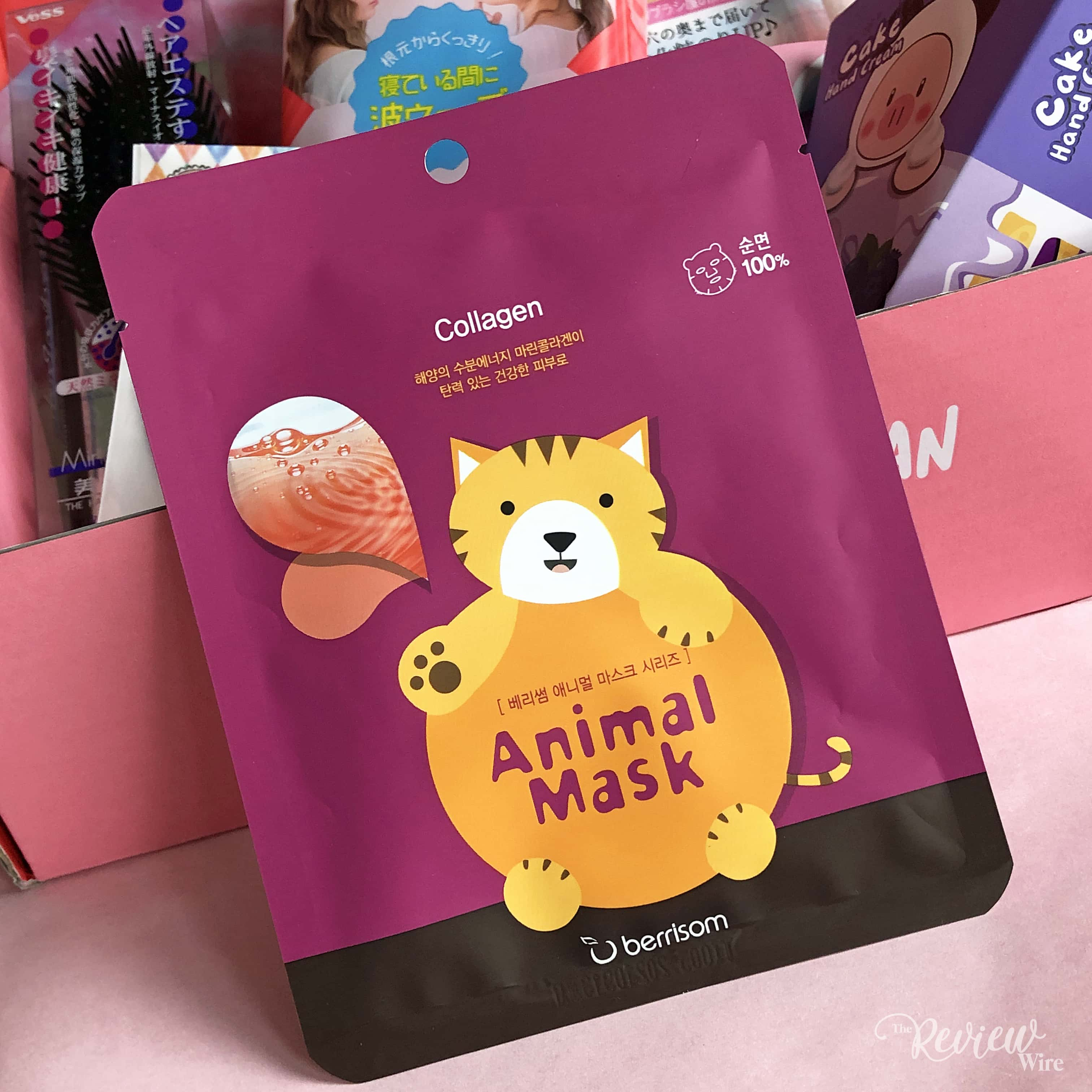 The Review Wire: nomakenolife Korean and Japanese Beauty Box: March 2019 Vibrant Vibes: Berrisom Animal Mask