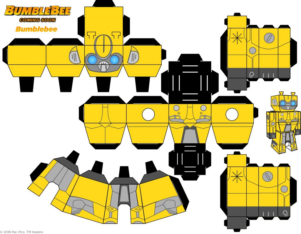 Bumblebee Movie Paper Craft - Bumblebee