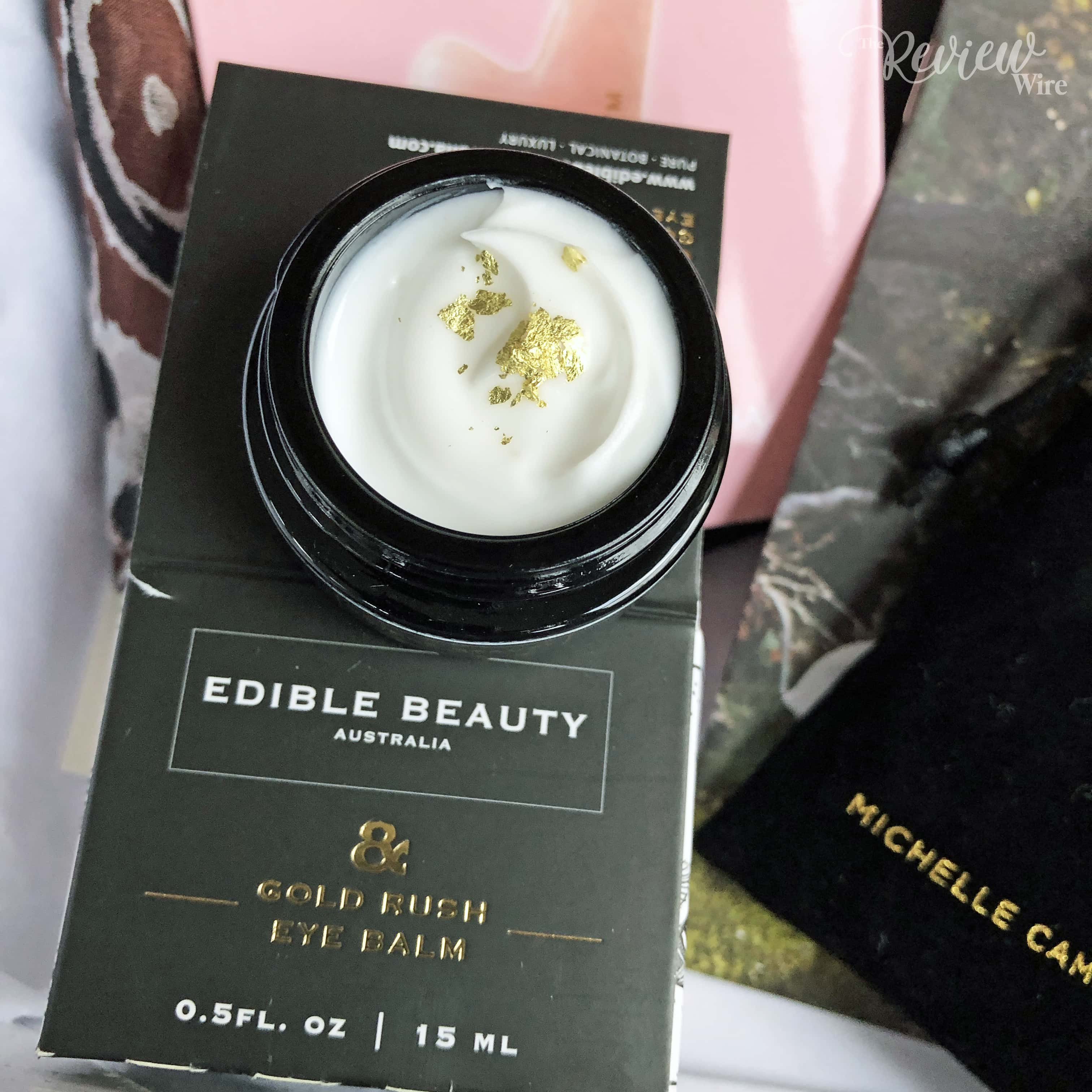 The Review Wire: Spring 2019 Rachel Zoe's Box of Style Video Unboxing - Edible Beauty Gold Rush Eye Balm